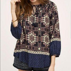 NWOT anthro XS peasant tassel blouse